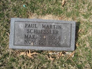 Paul Schuessler gravestone Immanuel New Wells MO