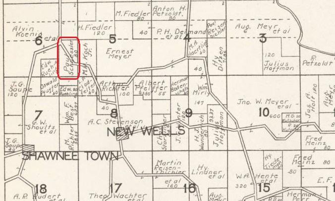 Paul Schuessler land map Shawnee Township