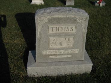 Paul Theiss gravestone St. Paul's Wittenberg MO