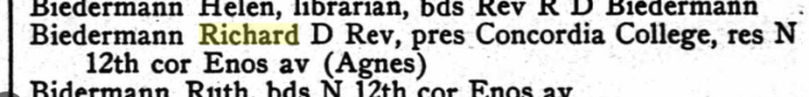 Richard Biedermann 1915 Springfield city directory