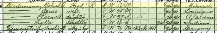 Richard Biedermann 1920 census Springfield IL