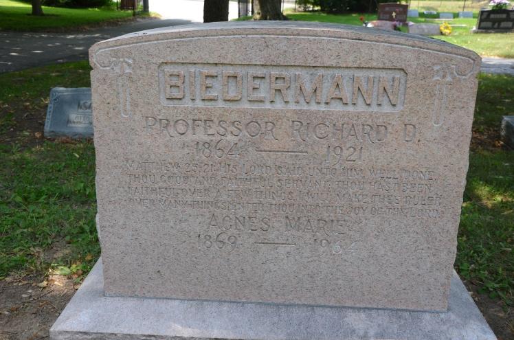 Richard Biedermann gravestone Concordia Indianapolis IN