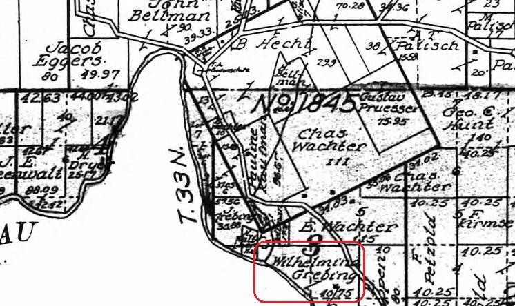 Wilhelmina Grebing land map 1915