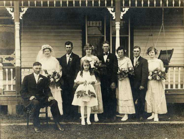 William and Bertha Doering wedding party