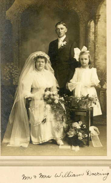 William and Bertha Doering wedding with Alma Doering
