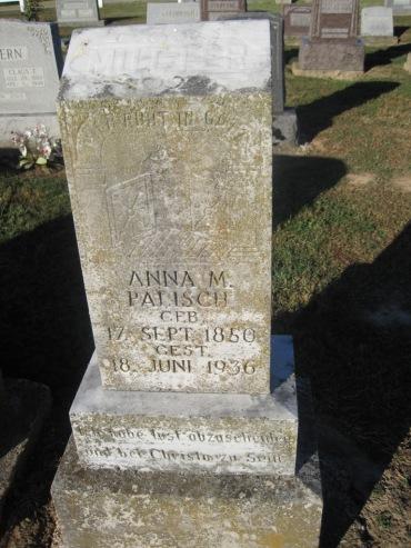 Anna Palisch gravestone Immanuel Altenburg MO