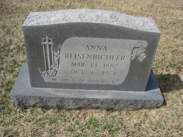 Anna Reisenbichler gravestone Immanuel New Wells MO