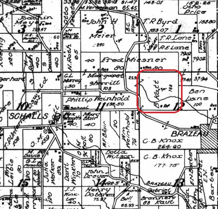 B. Katt land map 1915