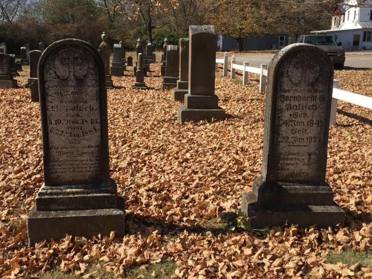 Bernhardt and Louis Palisch gravestones - Immanuel Altenburg MO