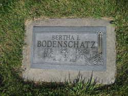 Bertha Bodenschatz gravestone Grace Uniontown MO