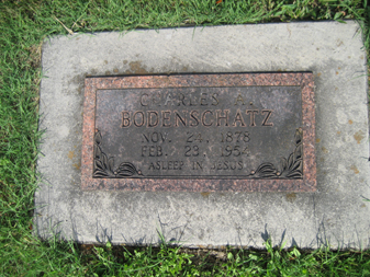 Charles Bodenschatz gravestone Grace Uniontown MO