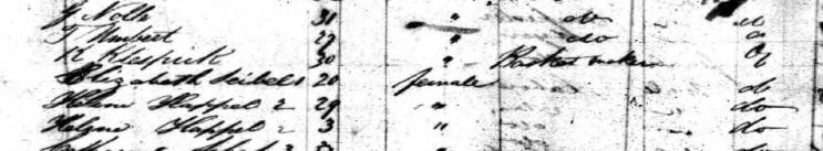 Elizabeth Seibel Favorita passenger list 1834 New York