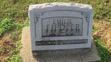 Emilie Fiedler gravestone Trinity Shawneetown MO