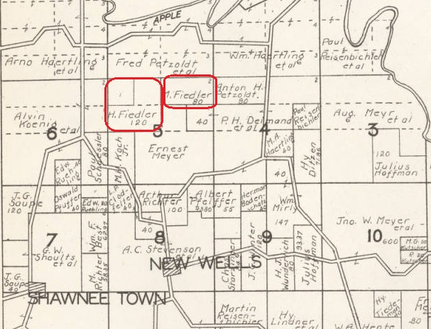 Fiedler land map Cape County 1930