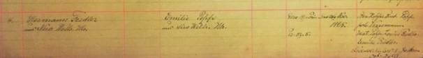 Fiedler Popp marriage record Immanuel New Wells MO
