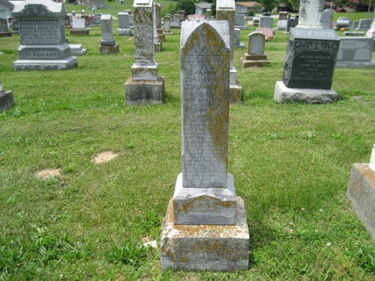 Friedrich Johann Dippold gravestone Immanuel Perryville MO