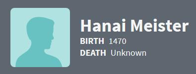 Hanai Meister 1470 Ancestry