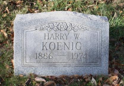 Harry Koenig gravestone Koenig Wentzville MO