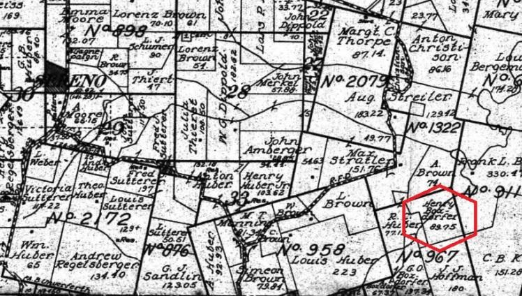 Henry Boxdorfer land map 1915
