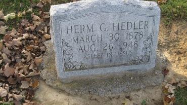 Herman Fiedler gravestone Trinity Shawneetown MO