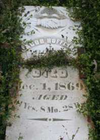 Jacob Hoffman gravestone York Chapel Longtown MO
