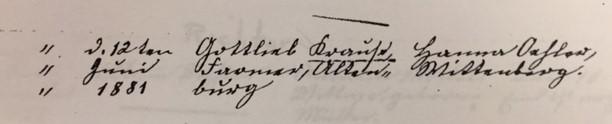 Krause Oehlert marriage record Trinity Altenburg MO