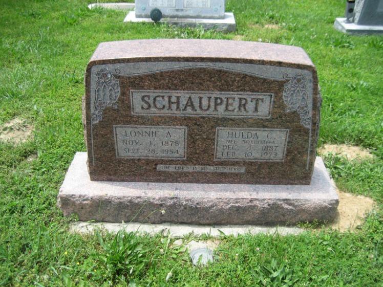 Lonnie and Hulda Schaupert gravestone Immanuel Perryville MO