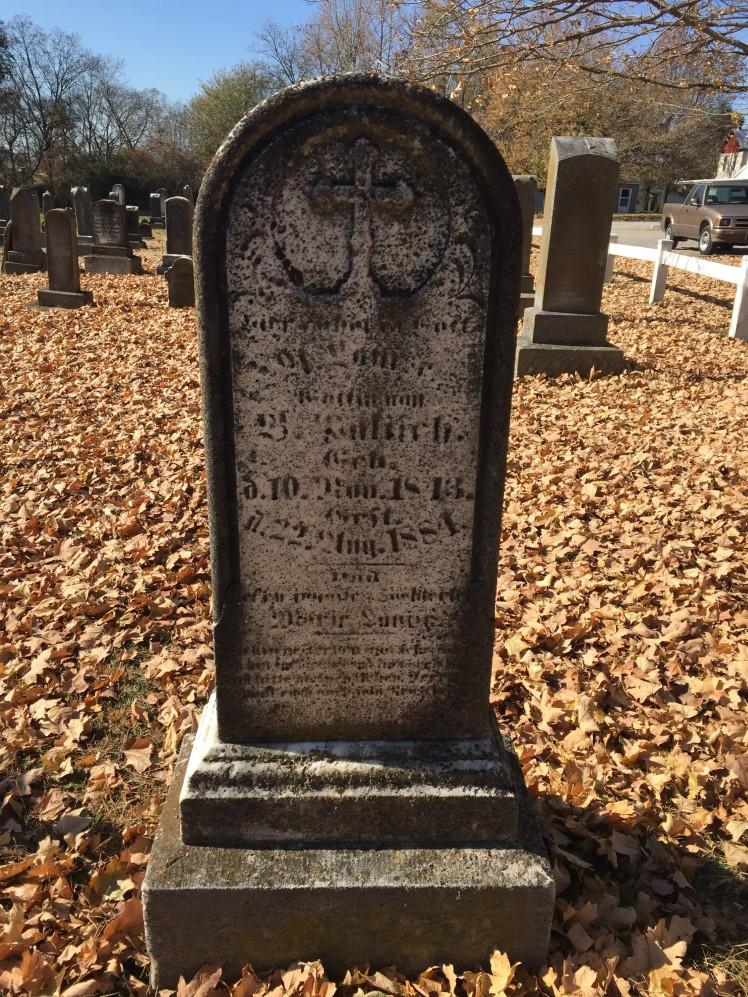 Louise Palisch gravestone - Immanuel Altenburg MO