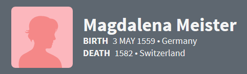 Magdalena Meister 1559 Ancestry