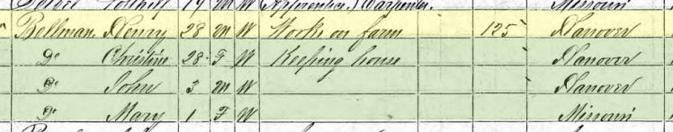 Maria Bellmann 1870 census Altenburg MO