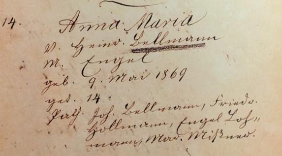 Maria Bellmann baptism record Trinity Altenburg MO