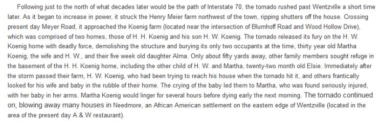 Martha Koenig tornado death story