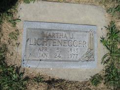 Martha Lichtenegger gravestone Trinity Altenburg MO