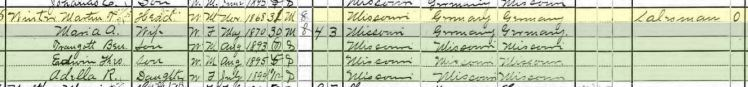 Martin Winter 1900 census Brazeau Township MO