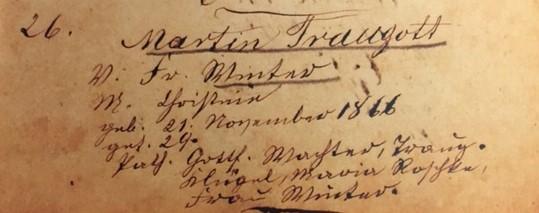 Martin Winter baptism record Trinity Altenburg MO
