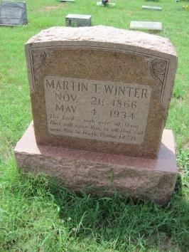 Martin Winter gravestone Zion Pocahontas MO