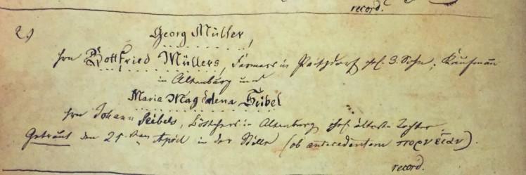 Mueller Seibel marriage record Immanuel Altenburg MO
