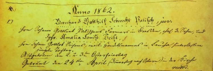 Palisch Seise marriage record Immanuel Altenburg MO
