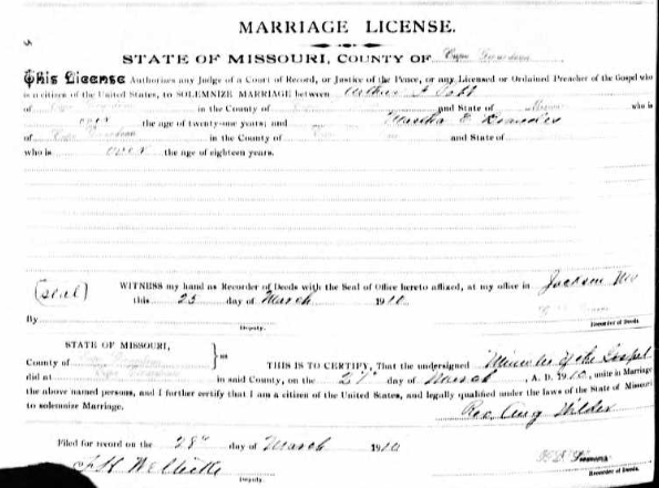Pott Brandes marriage license