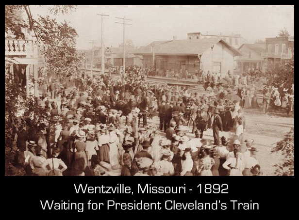 President Cleveland whistle stop in Wentzville MO 1892