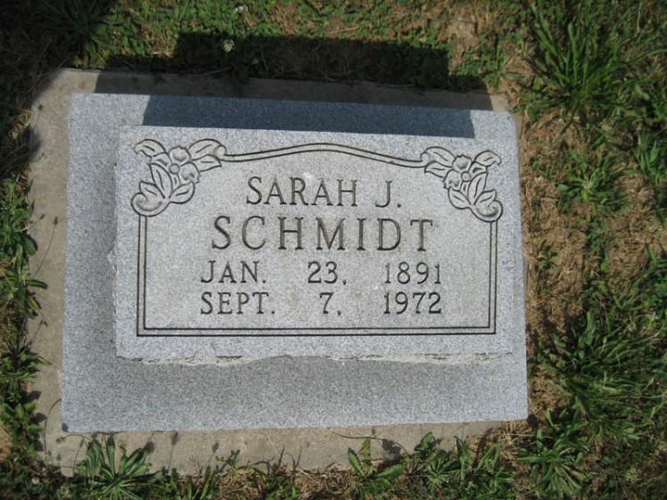Sarah Schmidt gravestone Trinity Altenburg MO