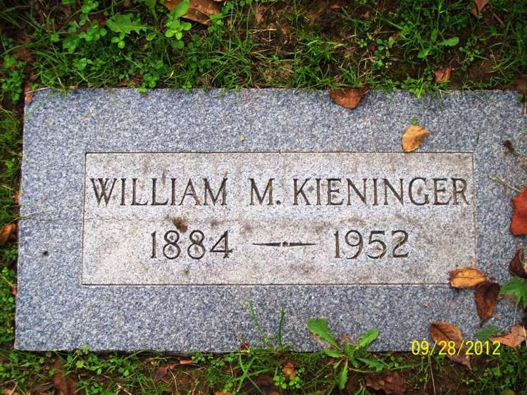 William Kieninger gravestone Memorial Park Cemetery Jennings MO