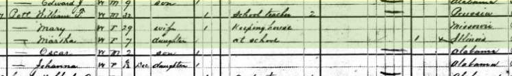 William Pott 1880 census Mobile AL