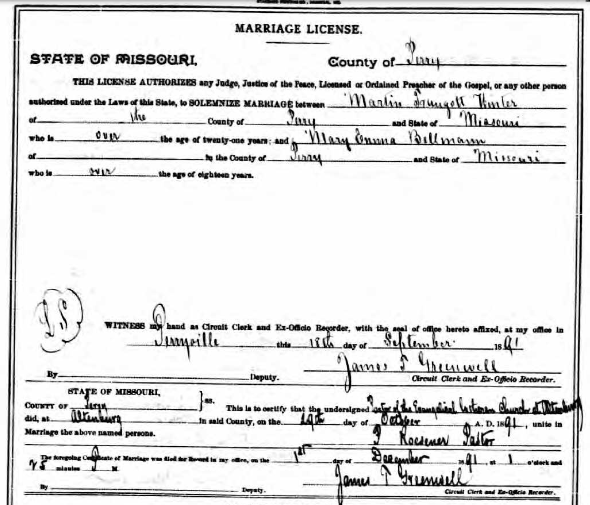 Winter Bellmann marriage license