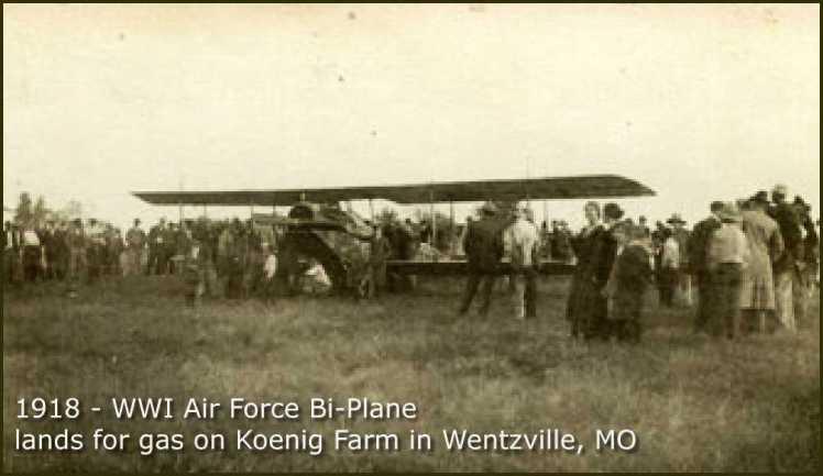 WWI bi-plane lands on Koenig farm 1918