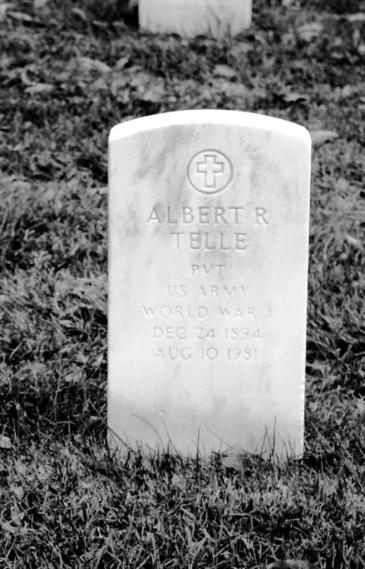 Albert Telle gravestone Jefferson Barracks St. Louis MO