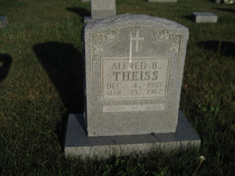 Alfred Theiss gravestone St. Paul's Wittenberg MO