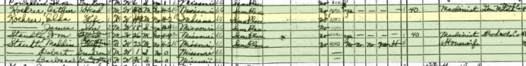 Arthur Koehrer 1940 census St. Louis MO