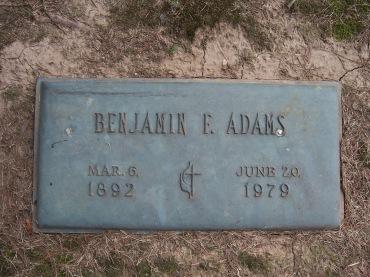 Benjamin Adams gravestone Cape County Memorial Cape Girardeau MO