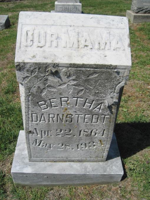 Bertha Darnstaedt gravestone Christ Jacob IL